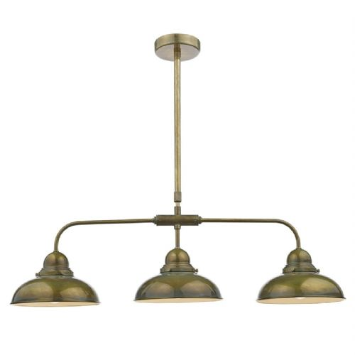 Dynamo 3 Light Bar Pendant Weathered Brass (Class 2 Double Insulated) BXDYN0342-17